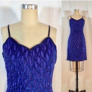 Vintage Sequin Dress 80s/90s Beaded